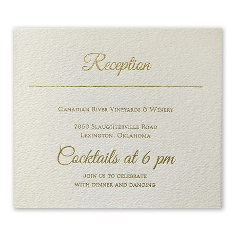 Layers of Luxury Gold Foil Information Card