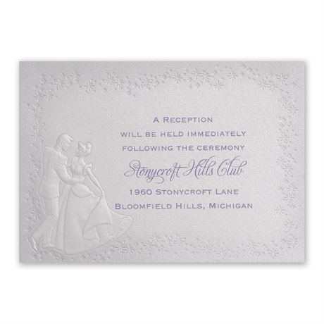 Disney Destined for Love Reception Card Cinderella