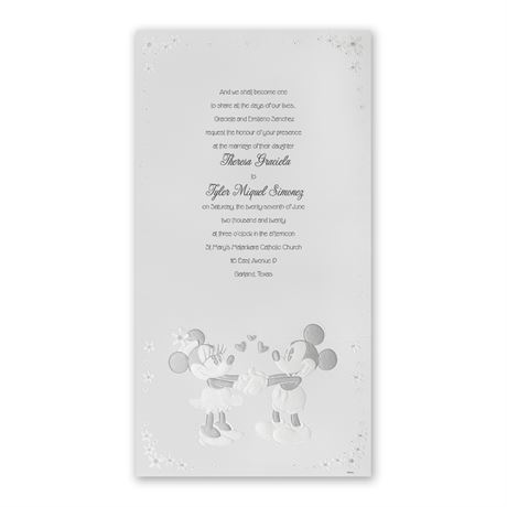Disney - Mickey and Minnie Invitation - Mickey Mouse