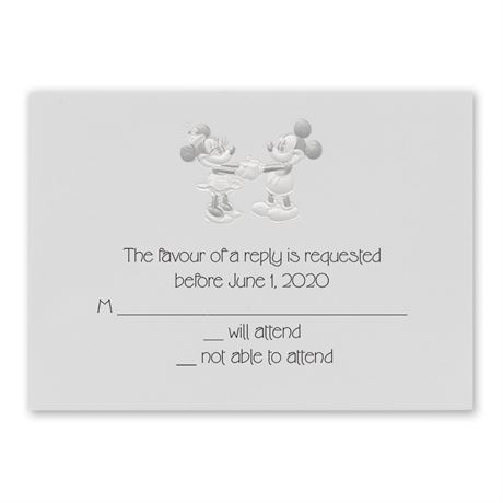 Disney Mickey and Minnie Response Card Mickey Mouse