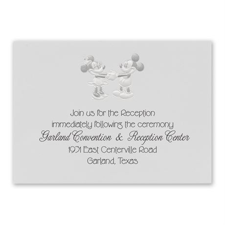 Disney Mickey and Minnie Reception Card Mickey Mouse