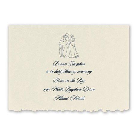 Disney First Dance Reception Card Cinderella