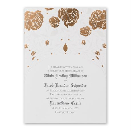 Disney Roses and Romance Invitation Sleeping Beauty