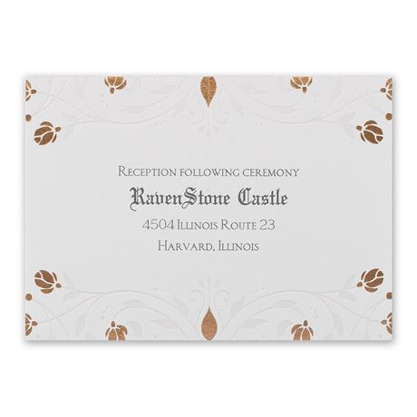 Disney Roses and Romance Reception Card Sleeping Beauty