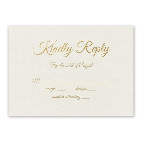Natural Luxury - Foil Response Card