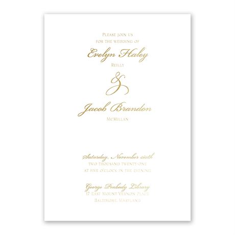 Gilded Beauty - Gold - Foil Invitation