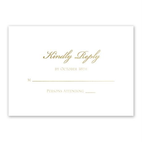 Gilded Beauty - Gold - Foil Response Card