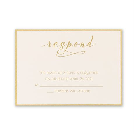 Satin and Gold Response Card