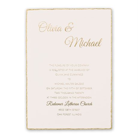 Gold Lining Foil Invitation