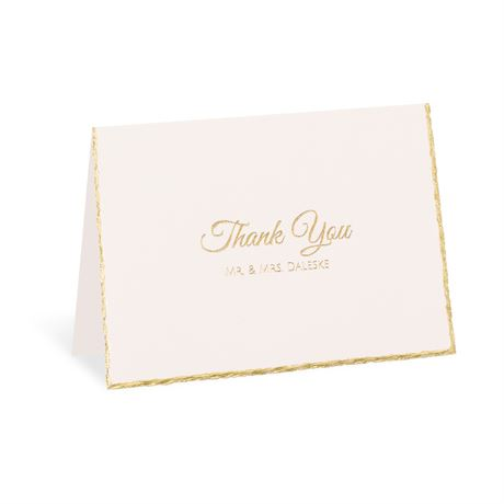 Gold Lining Foil Thank You Card