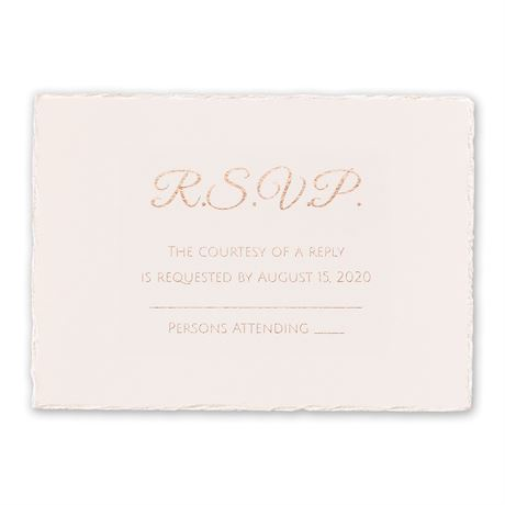 Pearl Lining - Foil Response Card