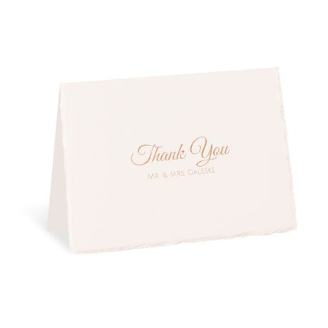 Pearl Lining Foil Thank You Card