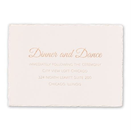 Pearl Lining - Foil Reception Card