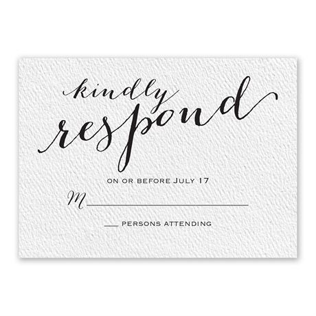 Playful Pair - White - Response Card