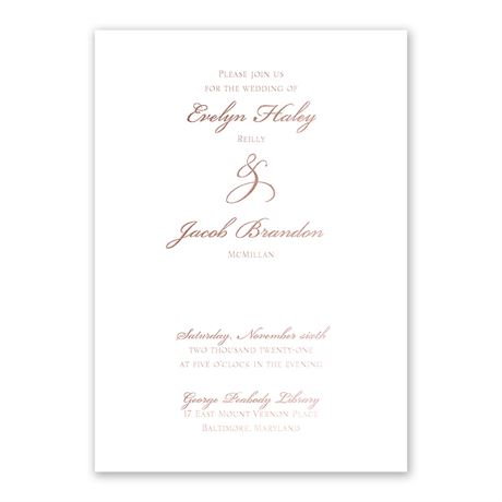 Gilded Beauty - Rose Gold - Foil Invitation