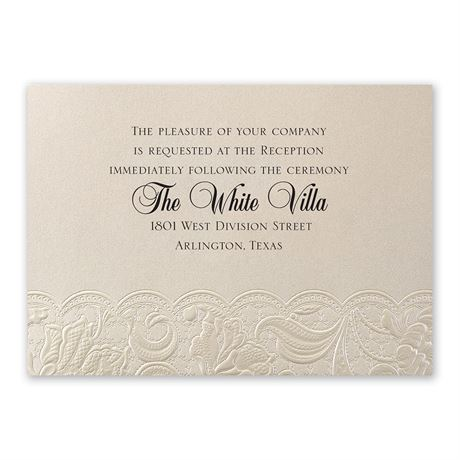 Candlelight Vines Reception Card