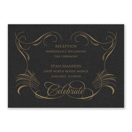 Glam Presentation Reception Card