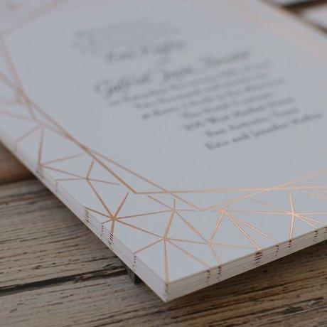 Clean Lines - Rose Gold - Foil Invitation