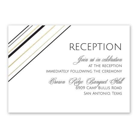 Sharp Lines - Gold - Foil Reception Card