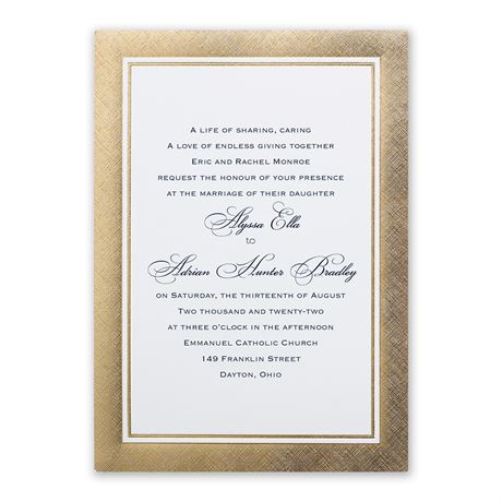 Golden Grandeur Invitation