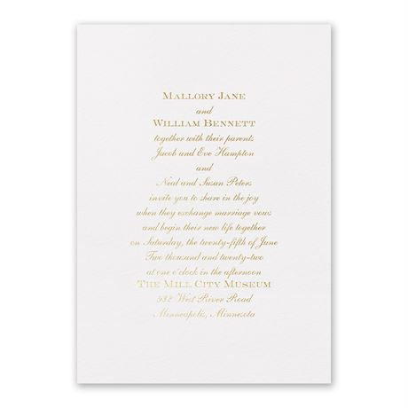 Flawless - Foil Invitation