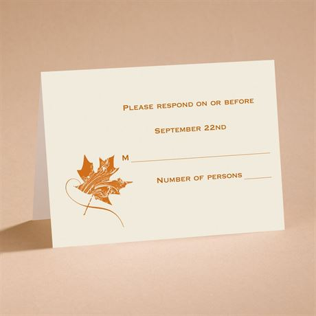 Fashionable Fall Respond Card and Envelope