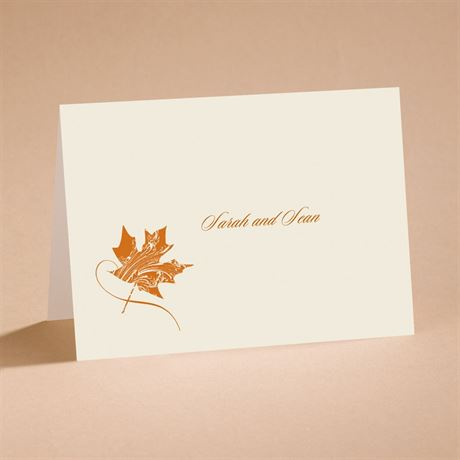 Fashionable Fall Note Card and Envelope