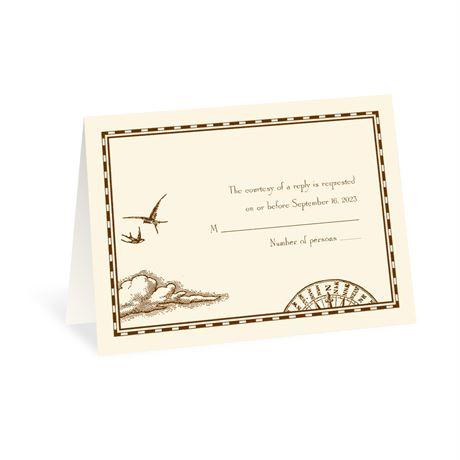 Treasure Map Respond Card and Envelope