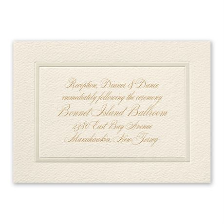 Supreme Tradition Reception Card