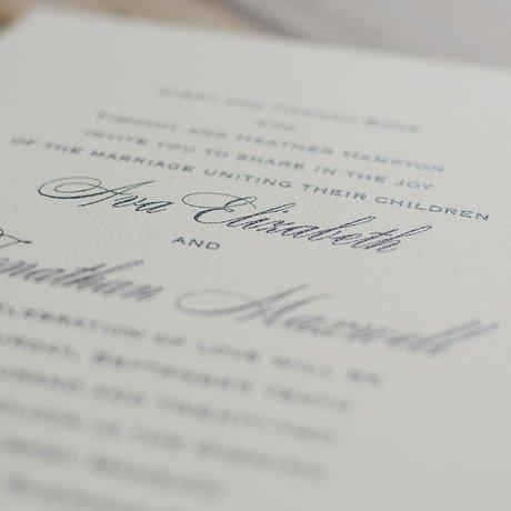 Absolutely Classic - Ecru - Invitation