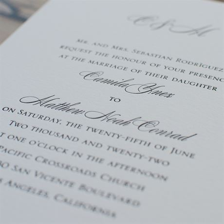 Pure Sophistication - Letterpress Invitation