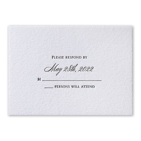 Pure Sophistication Letterpress Response Card