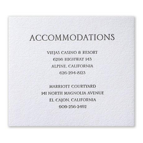 Modern Minimalist Letterpress Information Card