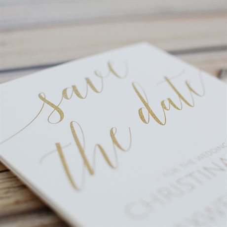 Swept Away  - White - Save the Date