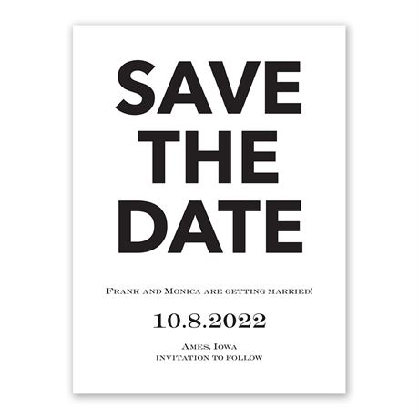 One Fine Date White Save the Date