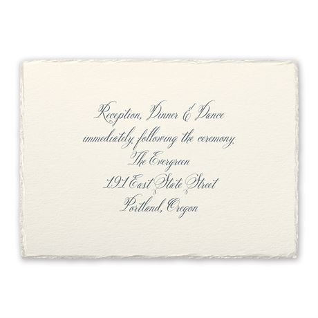 Rosewater Deckle Reception Card