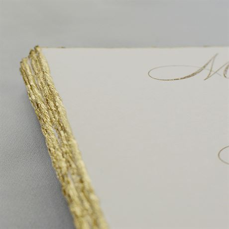 Jeweled Deckle - Burgundy - Invitation