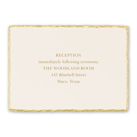 Jeweled Deckle Reception Card