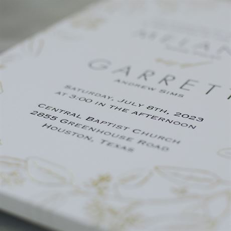 Verdure - Gold - Letterpress and Foil Invitation