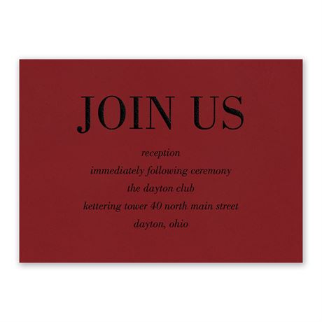 Red Romance Reception Card