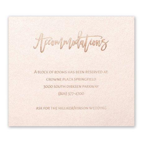 Blush Beauty - Rose Gold - Foil Information Card