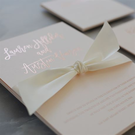 Blush Beauty - Rose Gold - Foil Invitation
