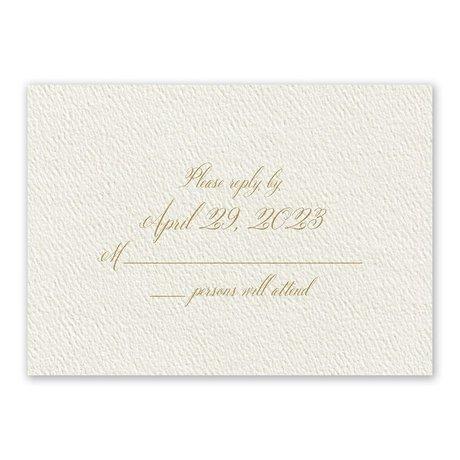 Wedded Bliss Ecru Response Card