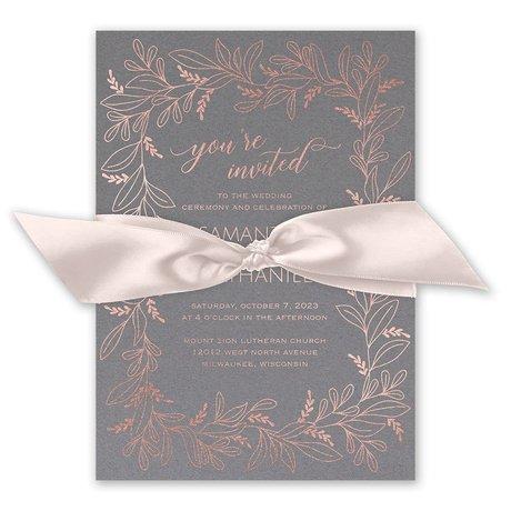 Botanical Brilliance - Rose Gold -  Foil Invitation