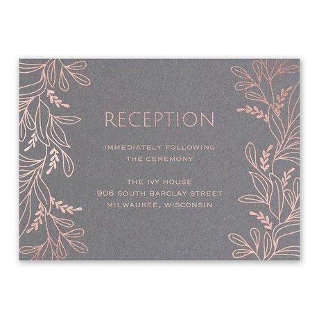 Botanical Brilliance - Rose Gold - Foil Reception Card