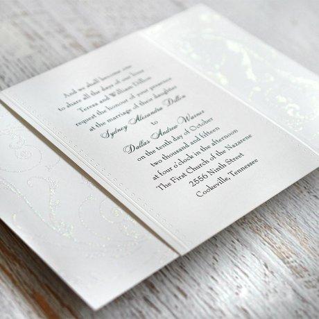 Glitter Filigree - Invitation