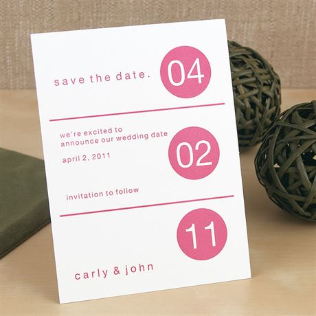Dot Design Save the Date Card