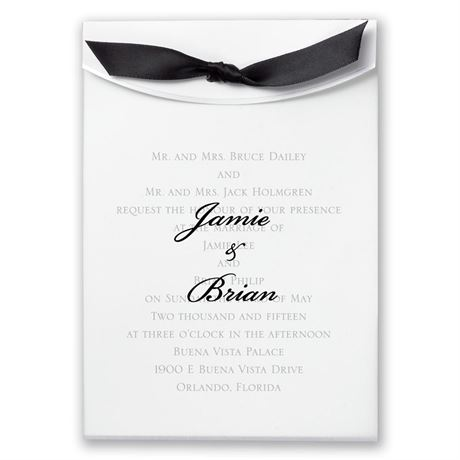 Pure Elegance Invitation