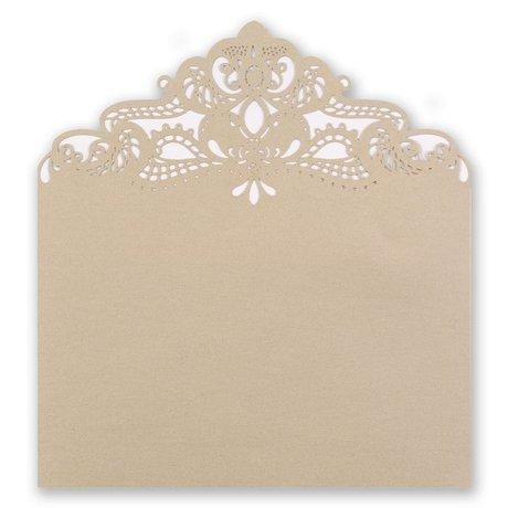 Ecru Shimmer Laser Cut Envelope Liner