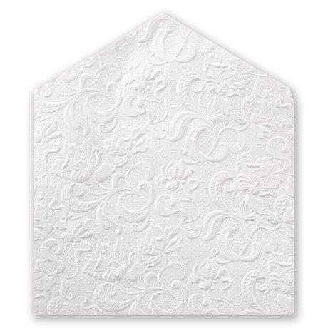 Embossed Floral - Pearl Envelope Liner